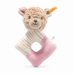 Rosy Teddy bear grip toy with rattle