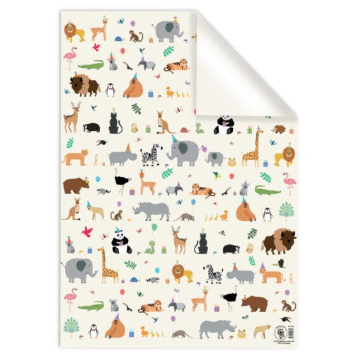 Animal Party Giftwrap