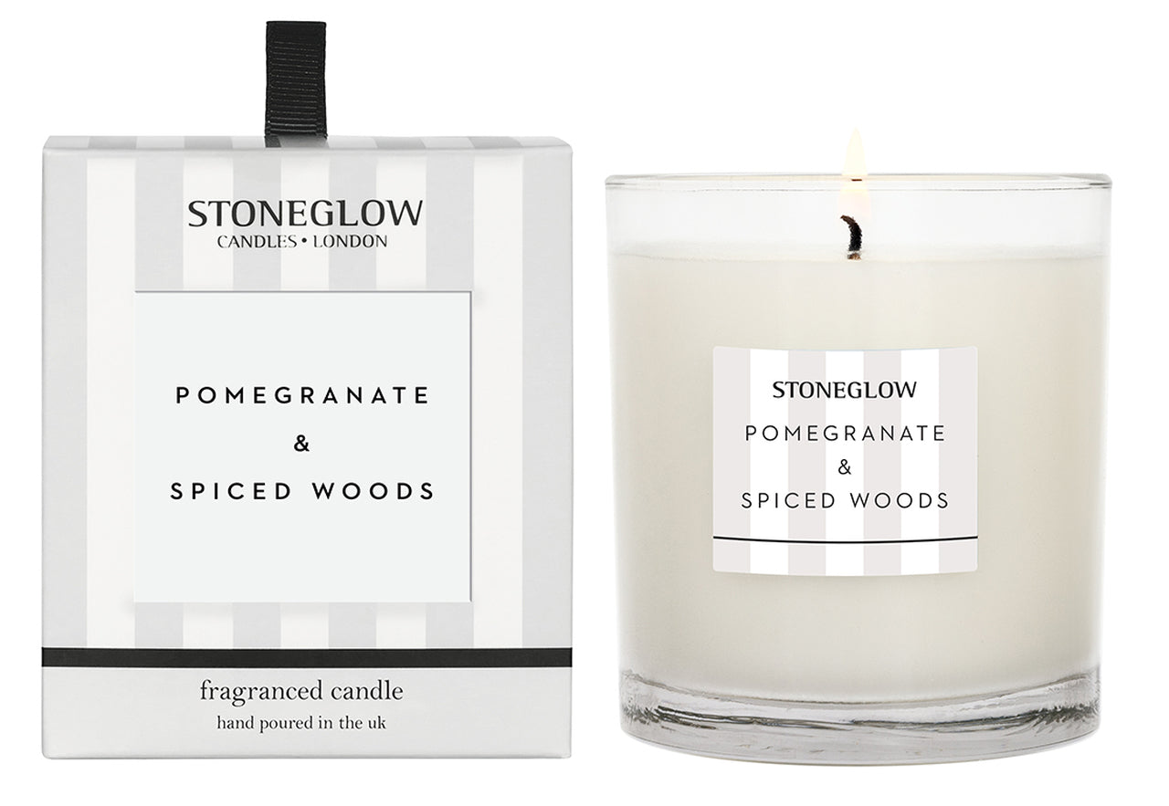 Modern Classic Candle - Pomegranate and Spiced Woods