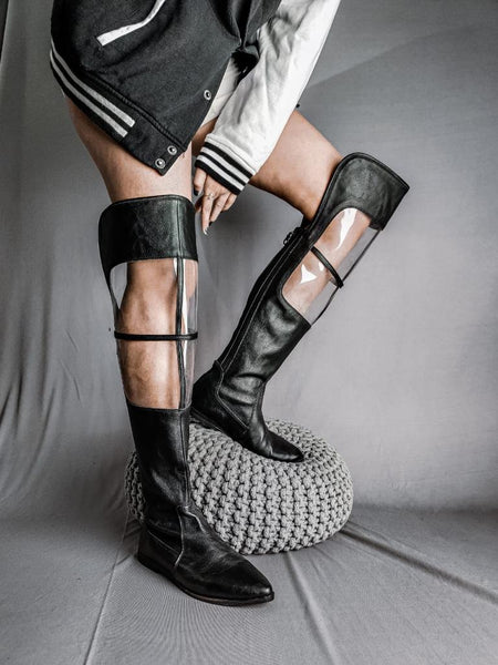 Knee High/Tall Boot (Clear Black)