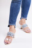 Denim Pop Heels