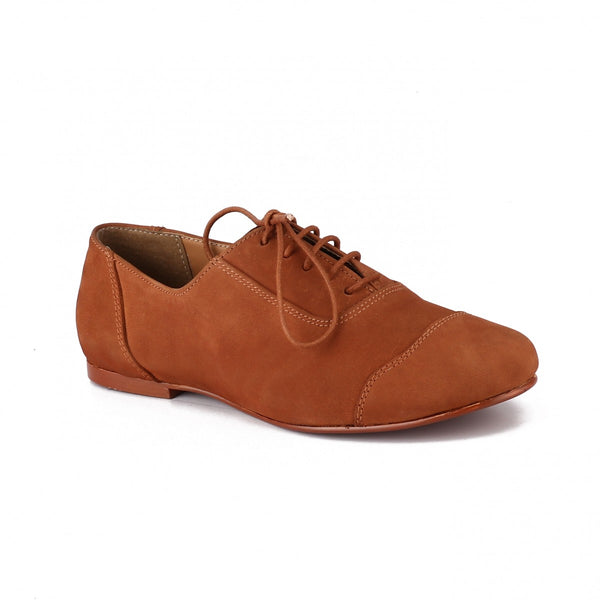 Tan Tweed Oxfords