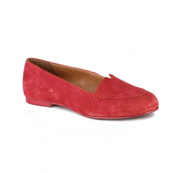 Minimal Red Stitched Loafers