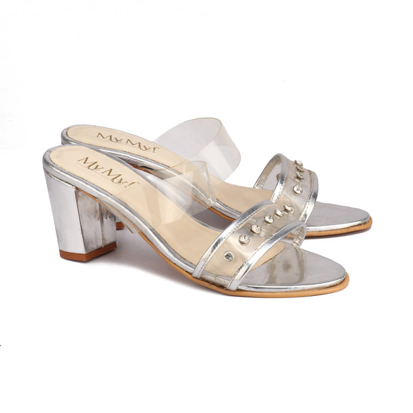 Clear Pop Block Heels