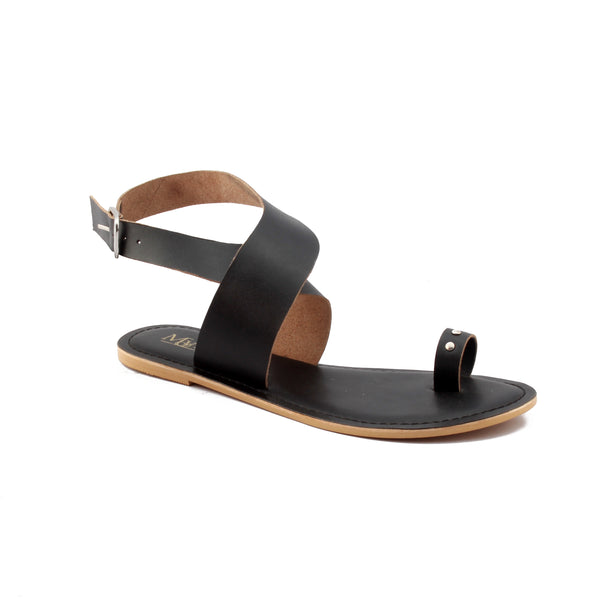 Toe-Loop Cross Enclosure Sandals