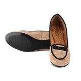 Two-tone Black Outline Point-toe Loafers
