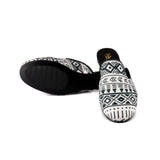 Monochrome Aztec Smoking Slippers
