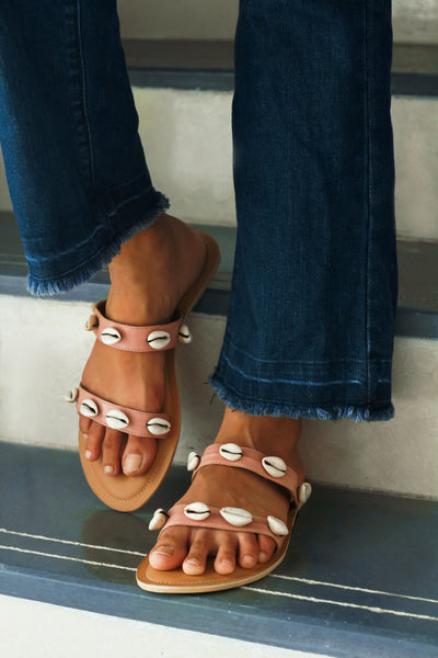 Peach Flat Sandal (Reef Crush)