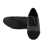 Grey Tweed Oxfords