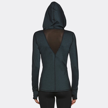 Flyweight Hoodie in Topaz, {View 2} | Alala | Luxury Women's Activewear | Style meets Sport