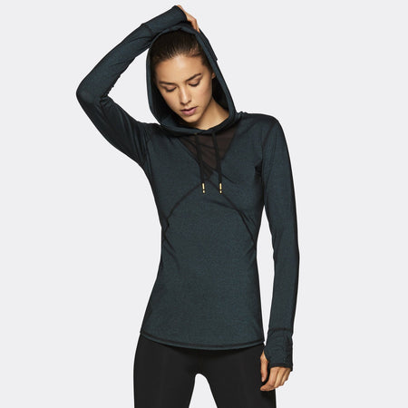 Flyweight Hoodie in Topaz, {View 1} | Alala | Luxury Women's Activewear | Style meets Sport