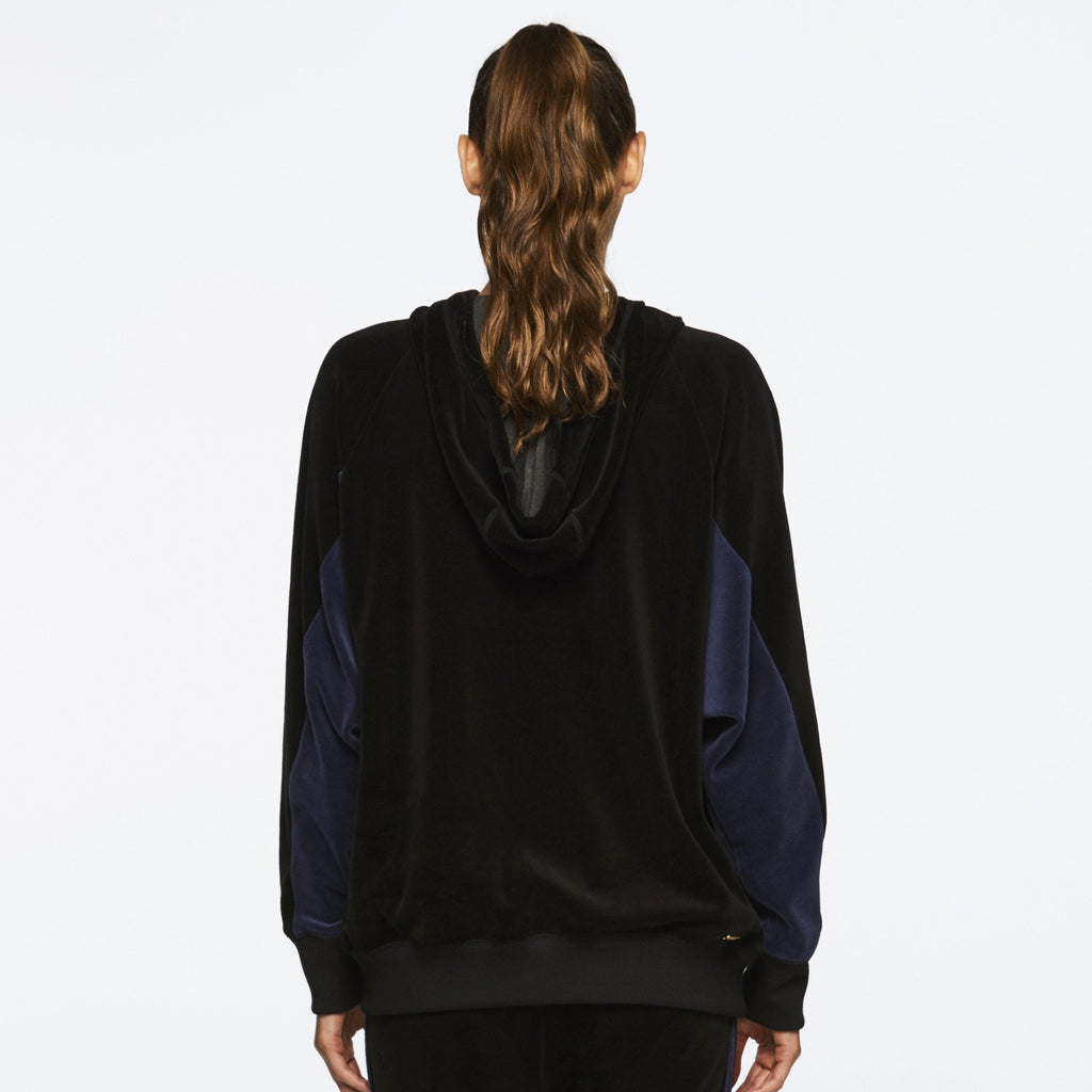 Velour Dolman in Black + Navy, {View 2} | Alala | Luxury Women's Activewear | Style meets Sport