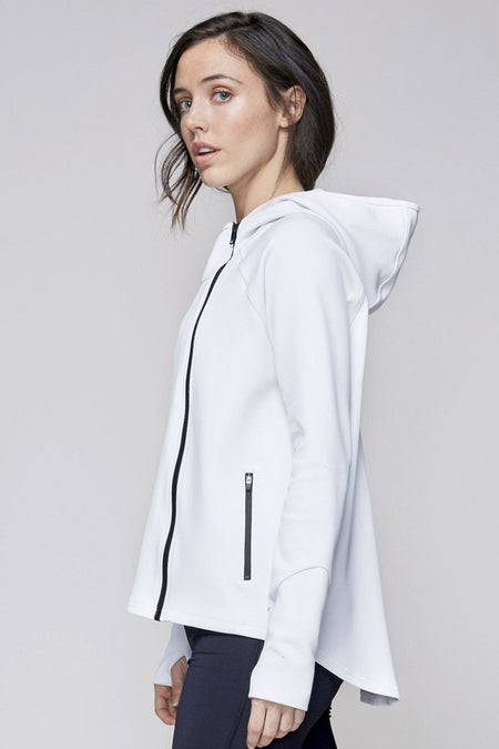 Neoprene Jacket in White, {View 2} | Alala | Luxury Women's Activewear | Style meets Sport