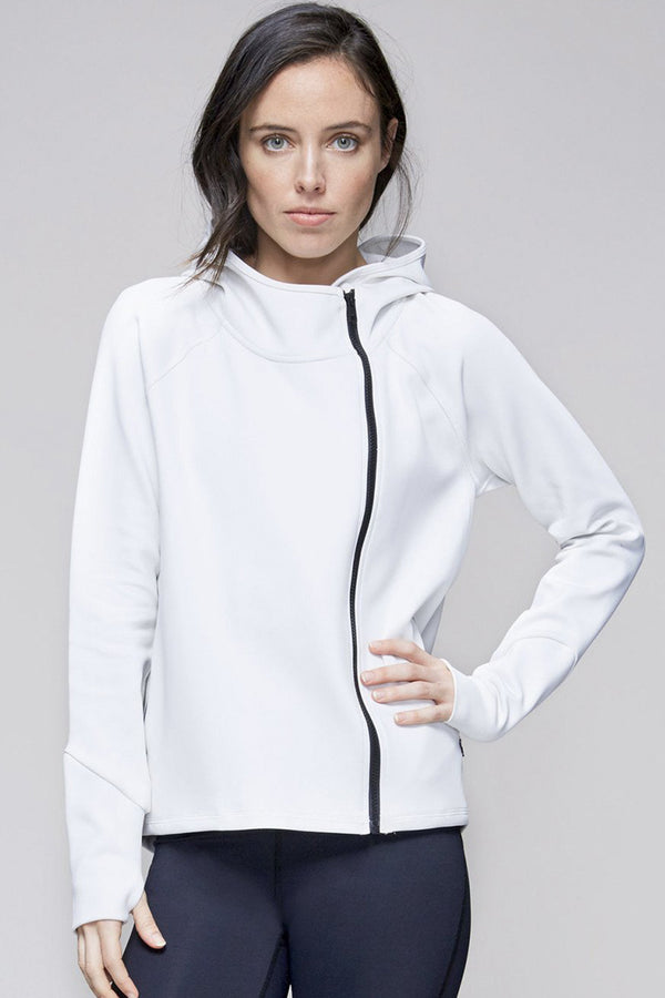 Neoprene Jacket in White, {View 1} | Alala | Luxury Women's Activewear | Style meets Sport
