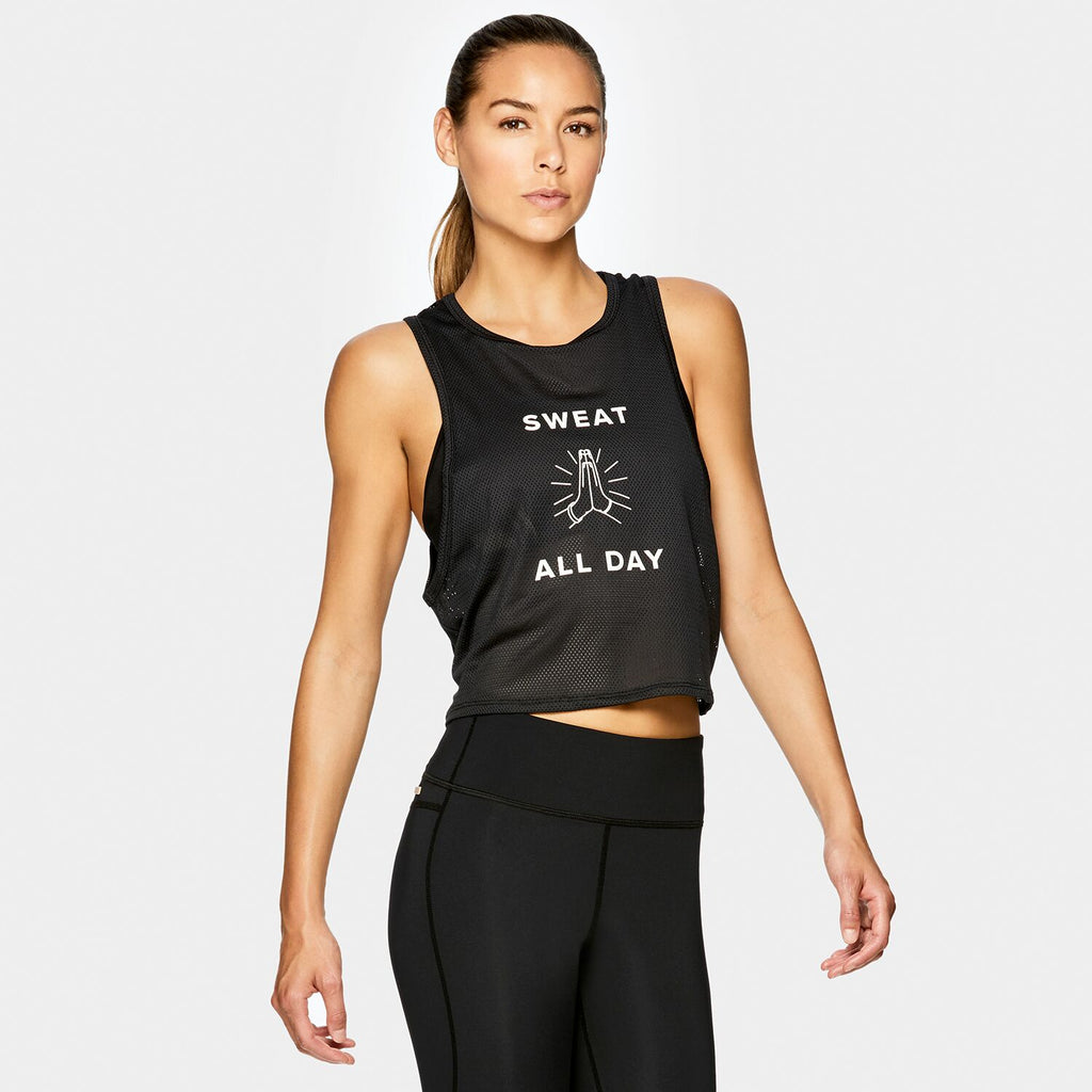 Mesh Tank in Y7, {View 1} | Alala | Luxury Women's Activewear | Style meets Sport