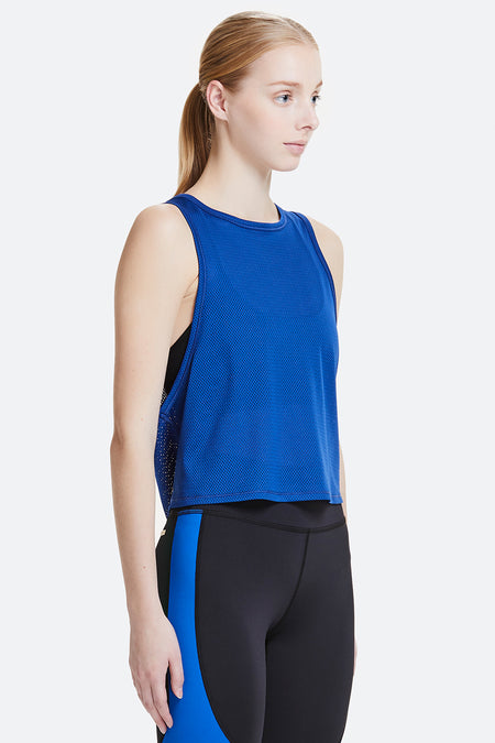 Royal Blue Mesh Tank - Alala Activewear