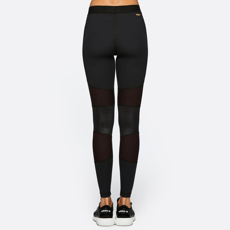Harley Tight in Black + Merlot, {View 2} | Alala | Luxury Women's Activewear | Style meets Sport