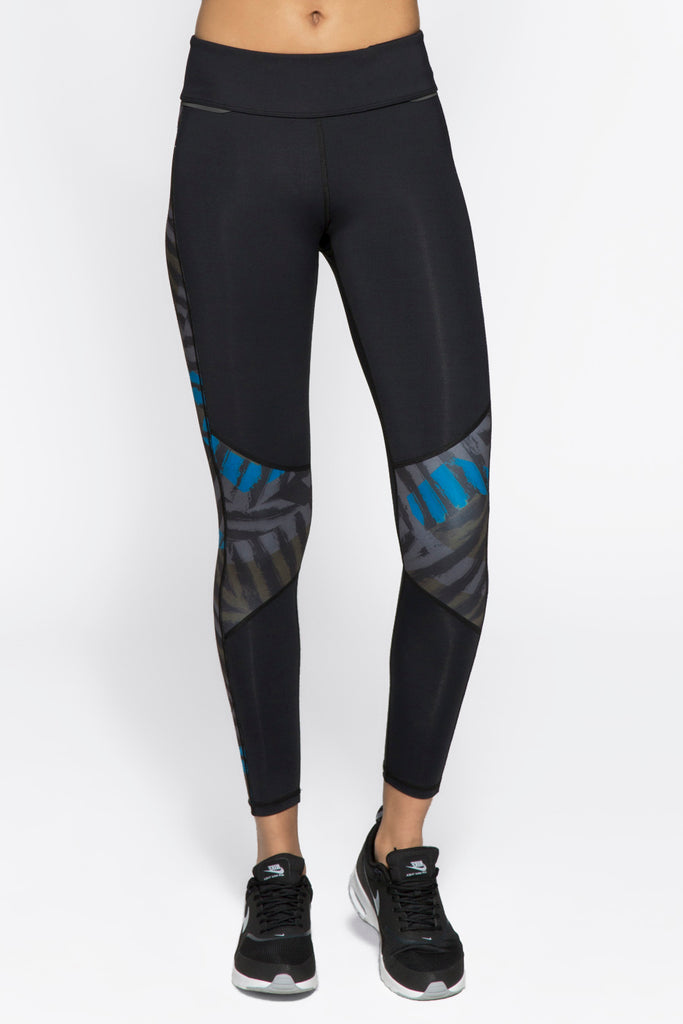 Blocked Ankle Tight in Bolt Stripe, $81 | Alala | Luxury Womens Activewear | Style meets Sport
