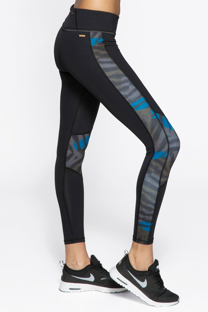 Blocked Ankle Tight in Bolt Stripe, $81 (SALE) | Alala | Luxury Womens Activewear | Style meets Sport