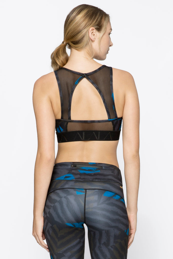Pyramid Bra in Bolt Stripe, $56 | Alala | Luxury Womens Activewear | Style meets Sport