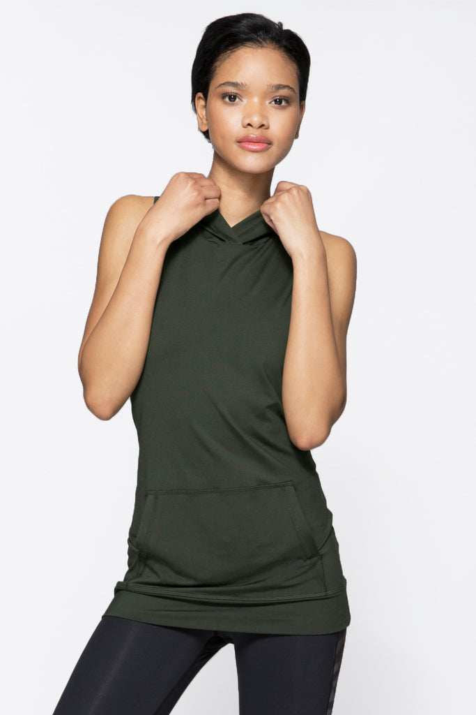 Twist Back Tank in Army, $77 | Alala | Luxury Womens Activewear | Style meets Sport