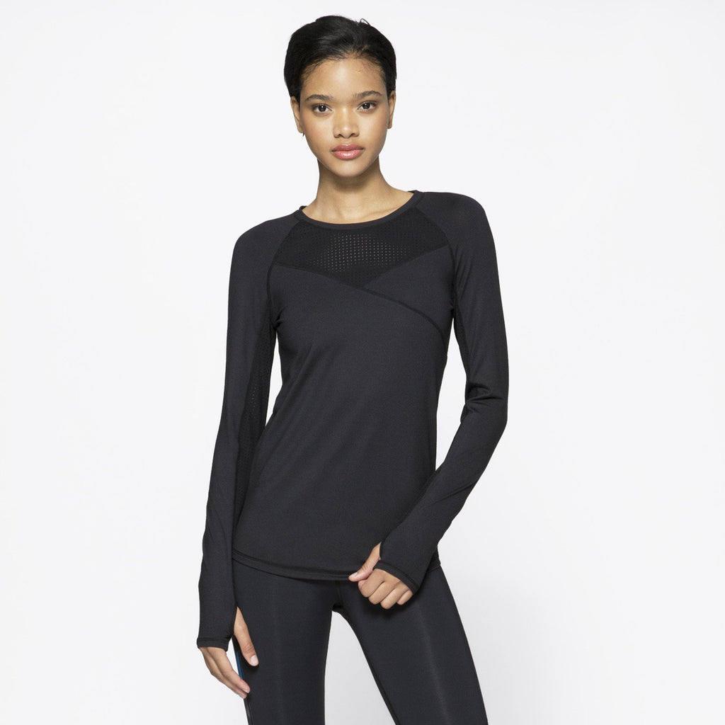Run Crew in Black, {View 1} | Alala | Luxury Women's Activewear | Style meets Sport