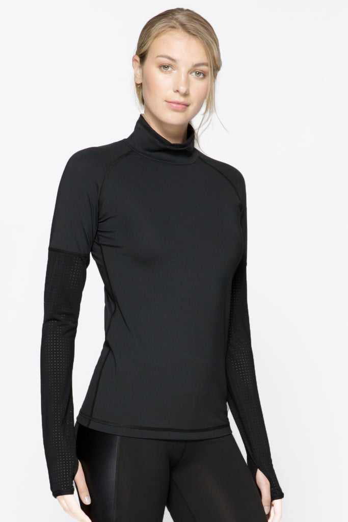 Alpine Tee in Black, $95 | Alala | Luxury Womens Activewear | Style meets Sport