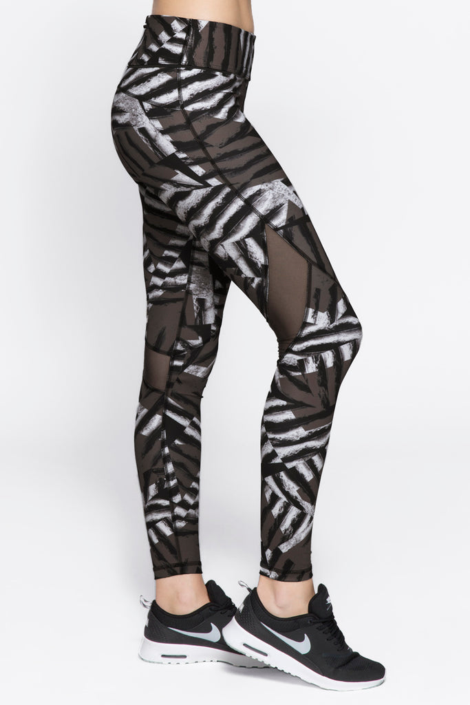 Captain Ankle Tight in Bronze Stripe, $77 | Alala | Luxury Womens Activewear | Style meets Sport