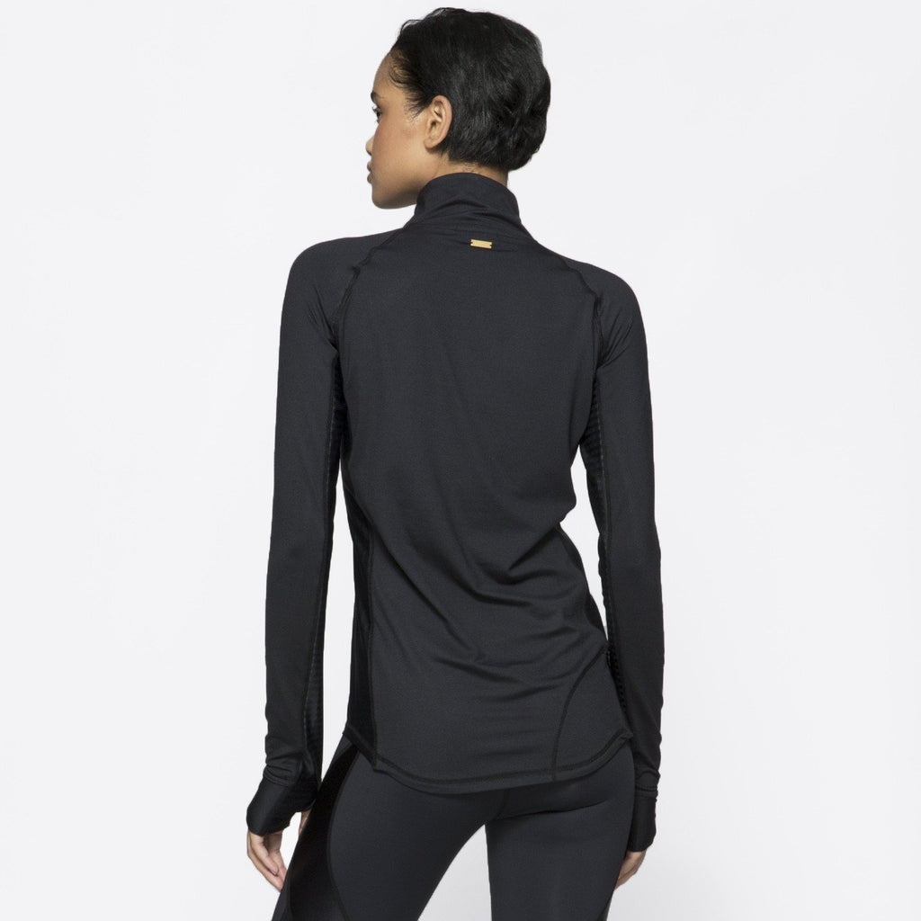 Charge 1/4 Zip in Embossed Check, {View 2} | Alala | Luxury Women's Activewear | Style meets Sport