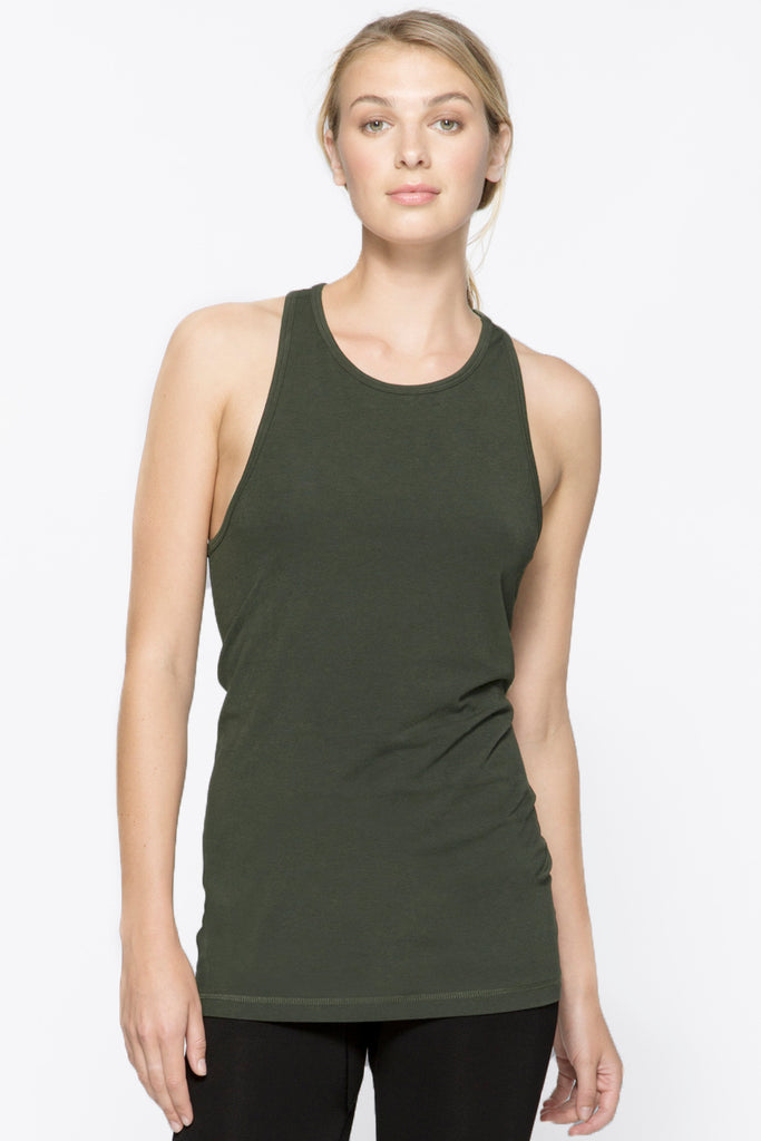 Signature Tank in Army, $39 | Alala | Luxury Womens Activewear | Style meets Sport