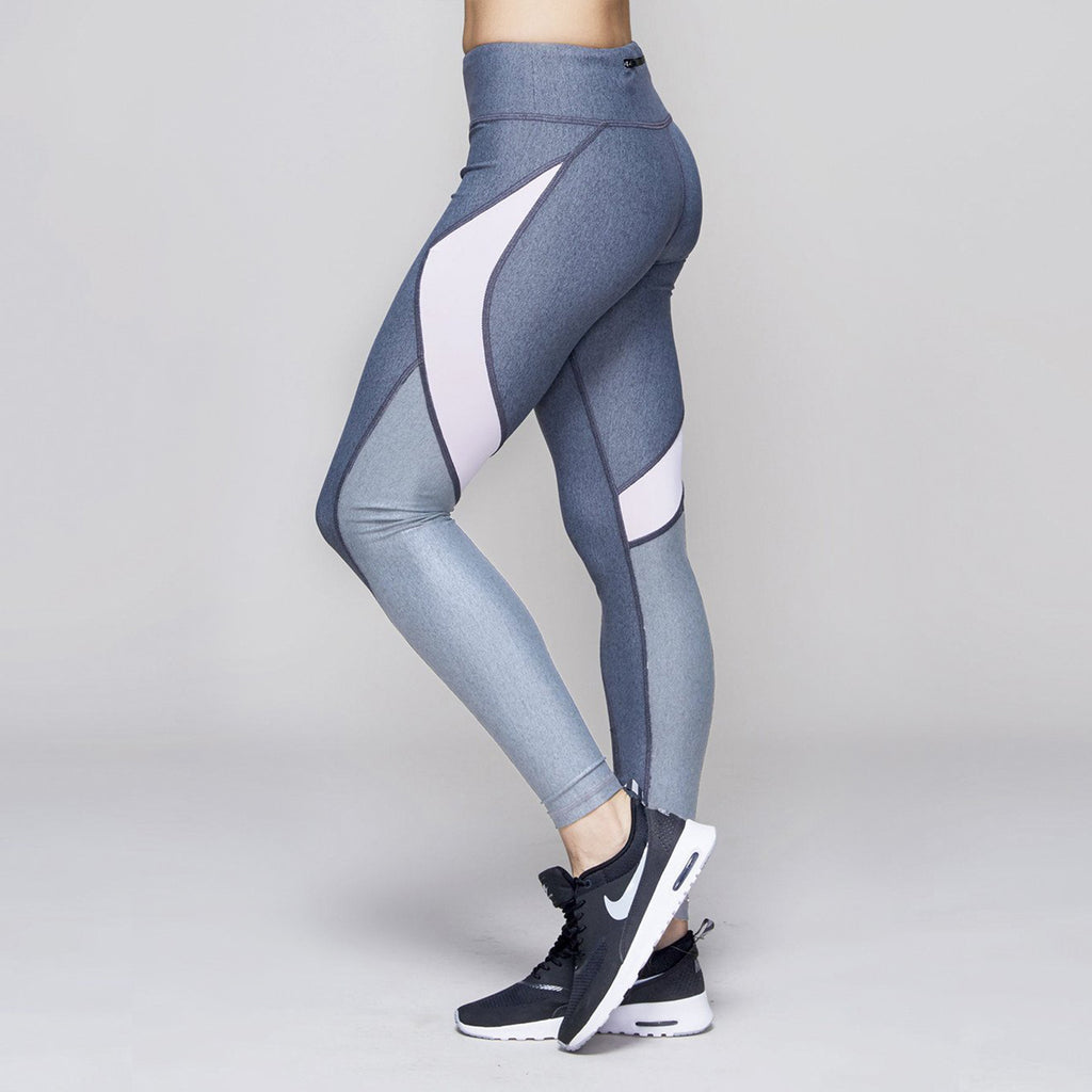 Edge Ankle Tight in Heather Grey, {View 1} | Alala | Luxury Women's Activewear | Style meets Sport