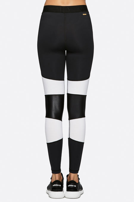 Harley Tight in Black + White, {View 2} | Alala | Luxury Women's Activewear | Style meets Sport