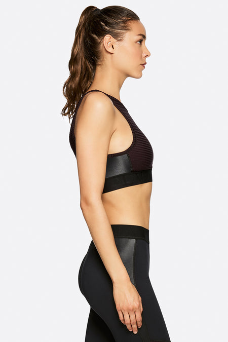 Kea Crop in Merlot, {View 2} | Alala | Luxury Women's Activewear | Style meets Sport