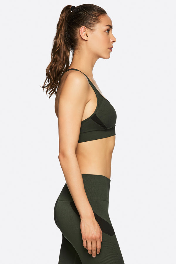 NIche Bra in Army, {View 1} | Alala | Luxury Women's Activewear | Style meets Sport