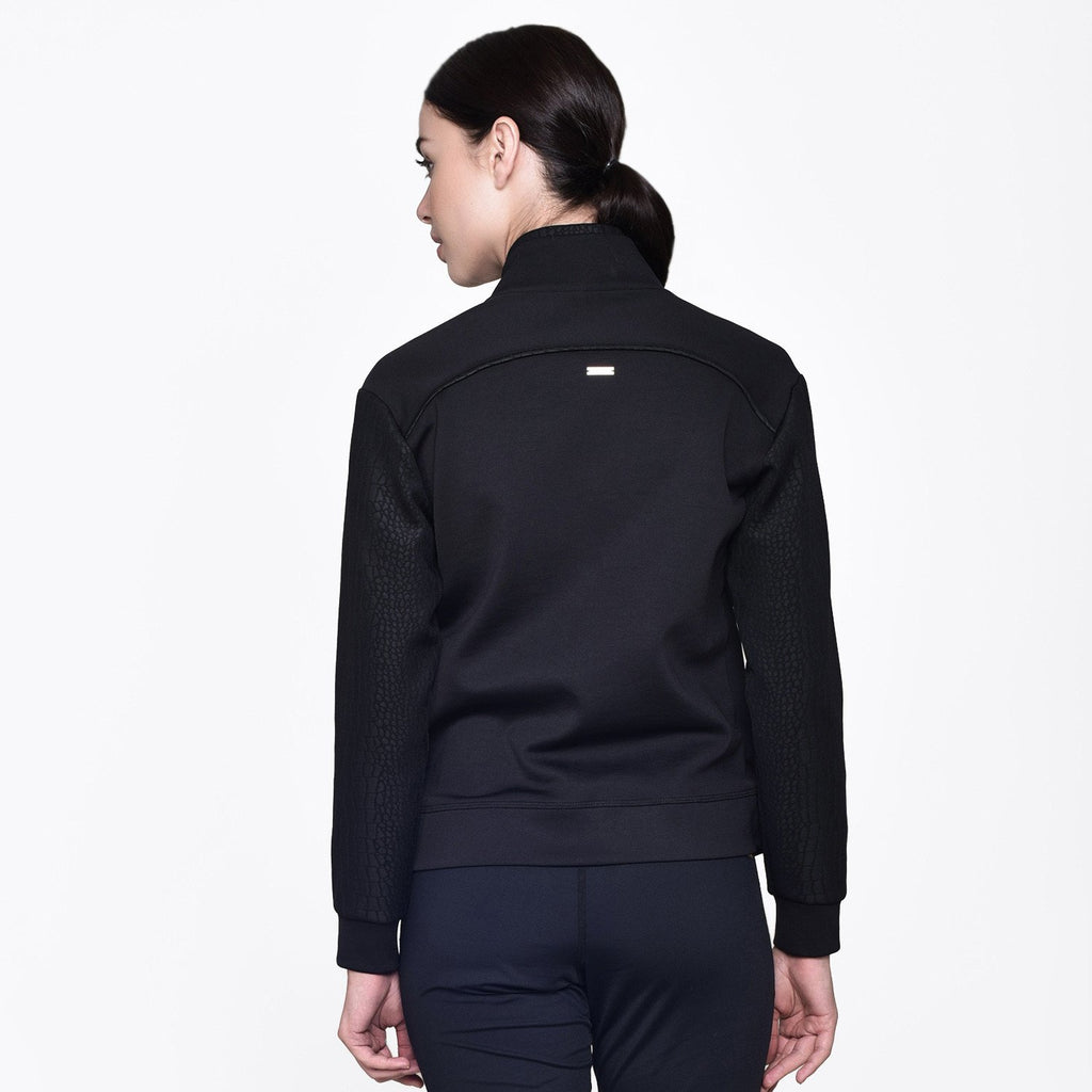 Signature Bomber Jacket in Black, {View 5} | Alala | Luxury Women's Activewear | Style meets Sport