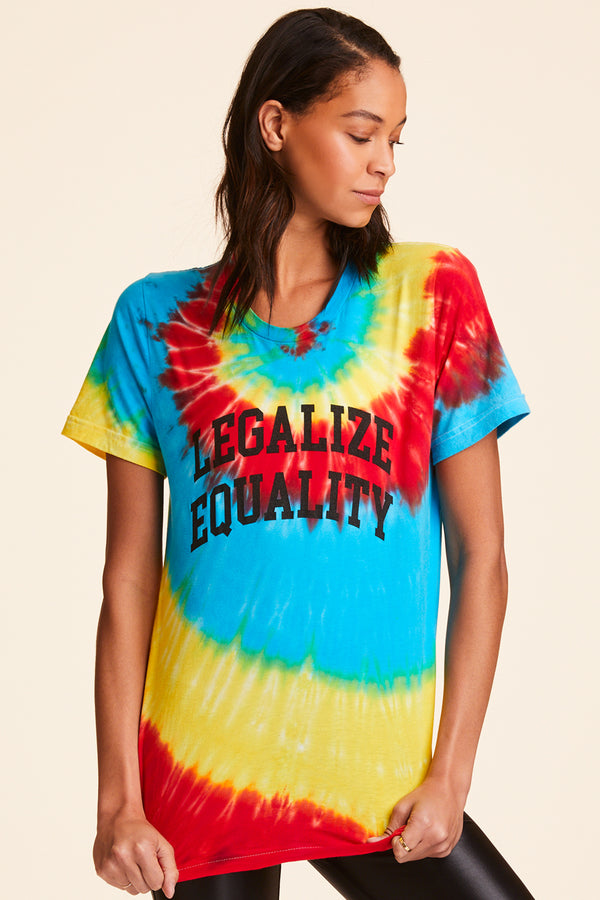 40d2820b4ca0 New Arrival. Legalize Equality Unisex Tee in Tie Dye