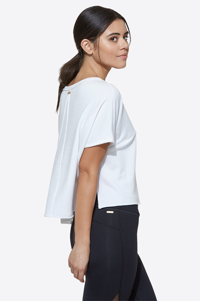 Champ Tee in White, $95 | Alala | Luxury Womens Activewear | Style meets Sport