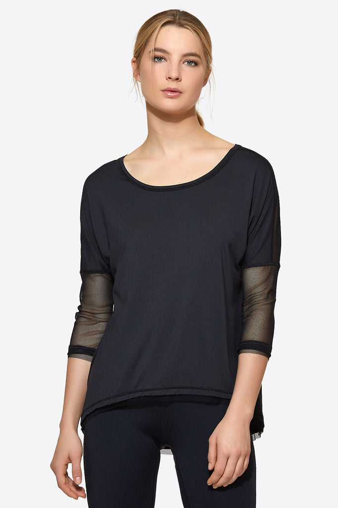 Sunday Morning Tee in Black, {View 1} | Alala | Luxury Women's Activewear | Style meets Sport
