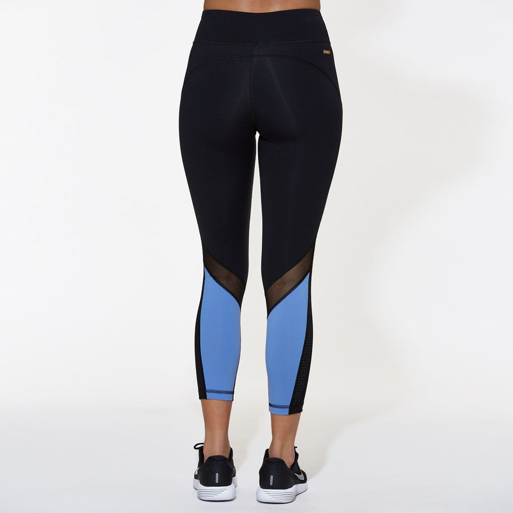 Heroine Tight in Black & Blue Tide, {View 2} | Alala | Luxury Women's Activewear | Style meets Sport