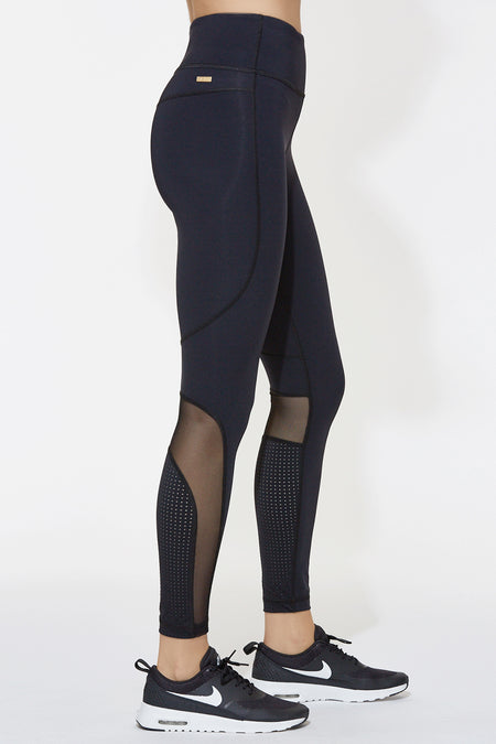 Siren Tight in Black & Pindot, {View 1} | Alala | Luxury Women's Activewear | Style meets Sport