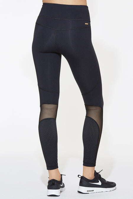 Siren Tight in Black & Pindot, {View 2} | Alala | Luxury Women's Activewear | Style meets Sport