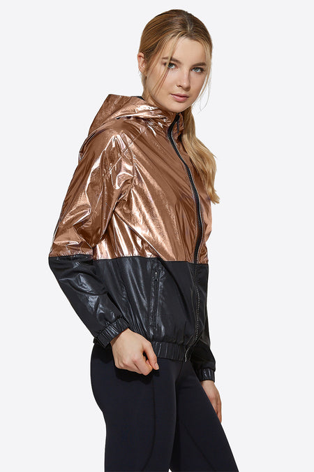 Fuel Jacket in Rose Gold, {View 1} | Alala | Luxury Women's Activewear | Style meets Sport