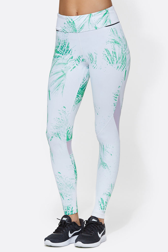 Captain Ankle Tight in Palm Print, $110 | Alala | Luxury Womens Activewear | Style meets Sport