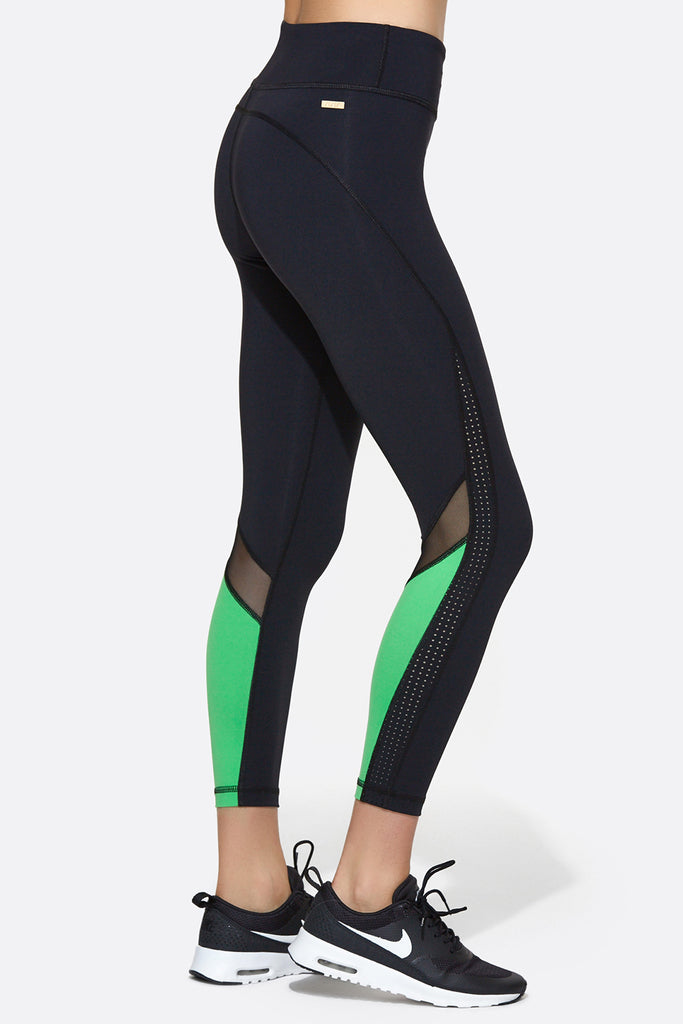 Heroine Tight in Black & Palm Green, $110 | Alala | Luxury Womens Activewear | Style meets Sport