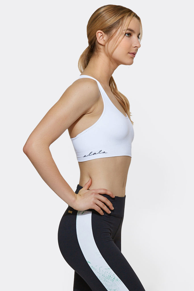 Crusade Bra in White, $55 | Alala | Luxury Womens Activewear | Style meets Sport