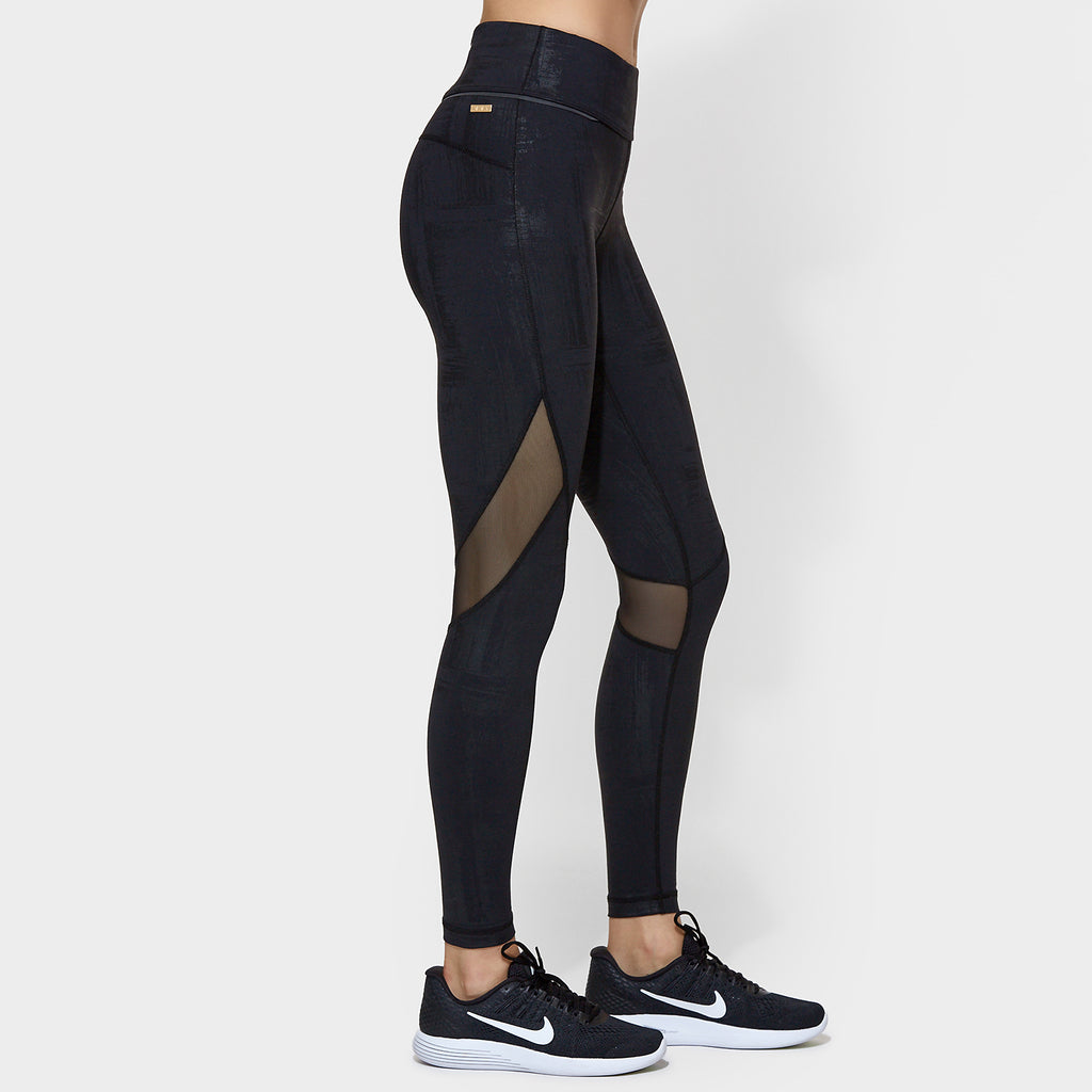 Captain Ankle Tight in Brushstroke, {View 1} | Alala | Luxury Women‰۪s Activewear | Style meets Sport