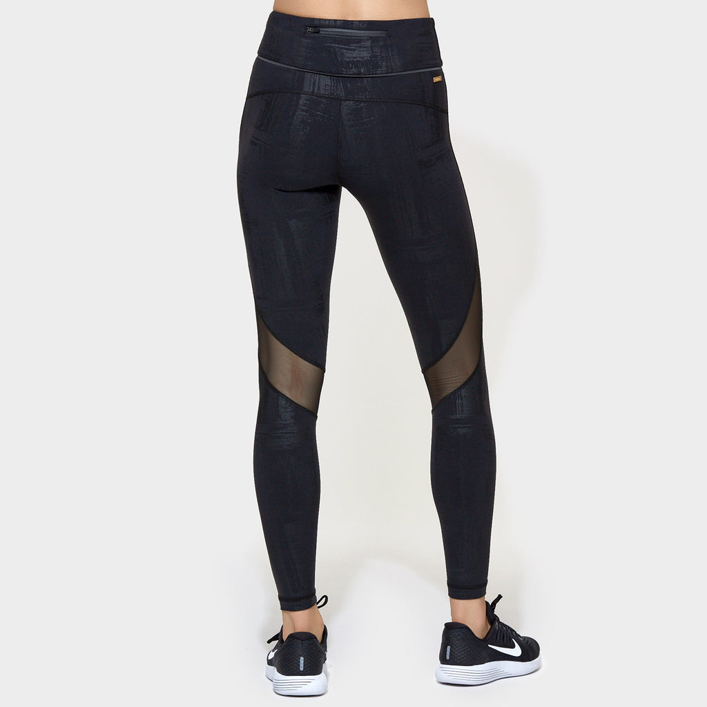 Captain Ankle Tight in Brushstroke, {View 2} | Alala | Luxury Women‰۪s Activewear | Style meets Sport