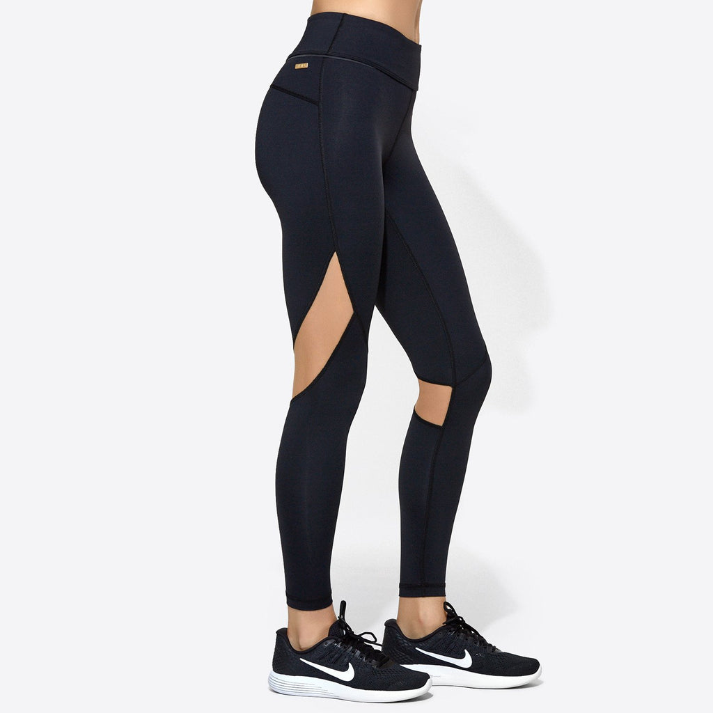 Captain Ankle Tight in Black & Nude, {View 1} | Alala | Luxury Women‰۪s Activewear | Style meets Sport