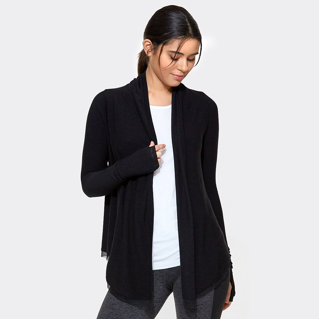Everyday Cardigan in Black, {View 1} | Alala | Luxury Women's Activewear | Style meets Sport
