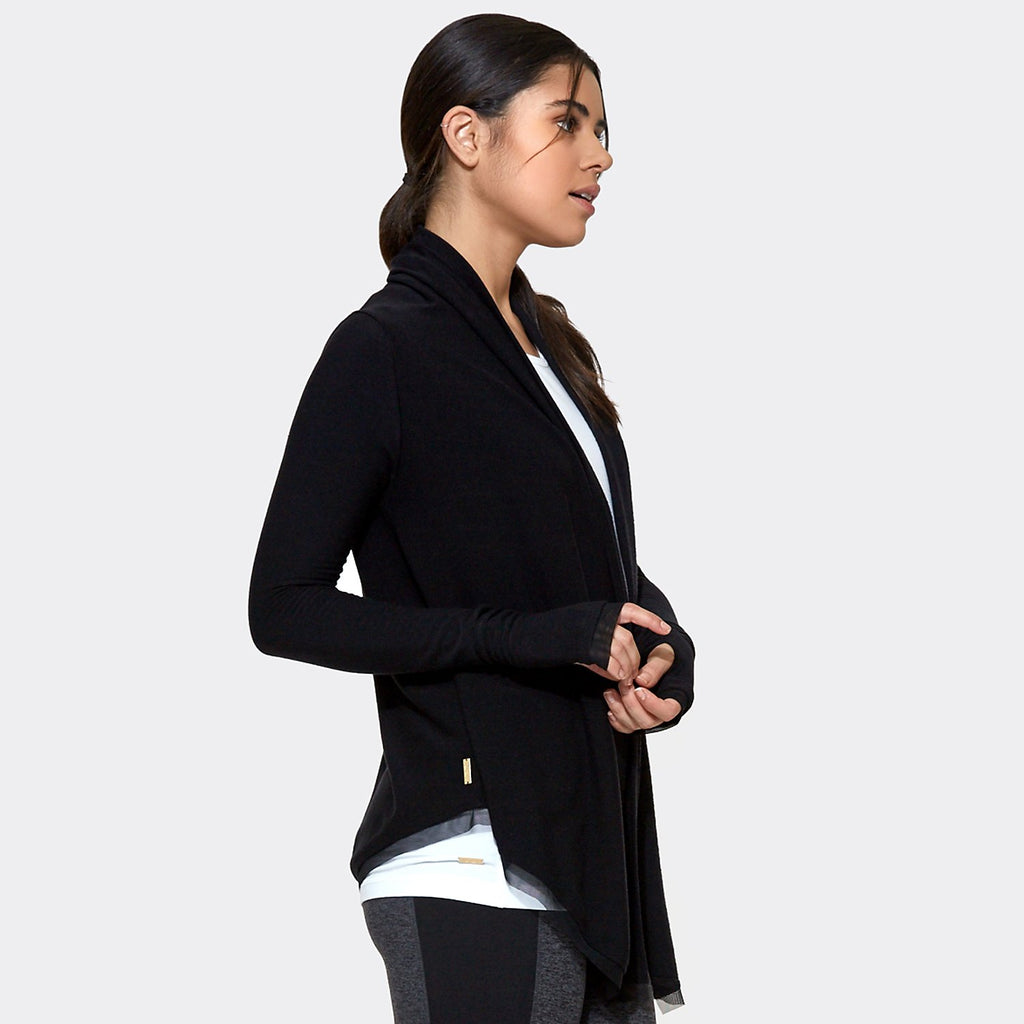 Everyday Cardigan in Black, {View 2} | Alala | Luxury Women's Activewear | Style meets Sport